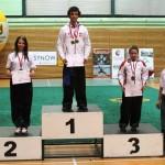 AMW_Choy Lee Fut Polska_Puchar Polski Wushu _dekoracja medalowa_Jakub Leszczyński oraz Ola Ostaszewska
