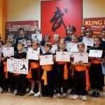 Egzaminy na wyższe stopnie kung fu choy lee fut - dzieci stopnie pomarańczowe