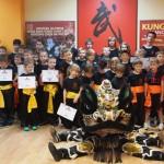 Egzaminy na wyższe stopnie kung fu choy lee fut - dzieci  żółte oraz pomarańczowe stopnie