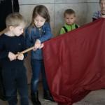 Chiński Nowy Rok_Auditorium Maximum_warsztaty broni chińskiej - flaga
