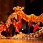 Chiński Nowy Rok_auditorium Maximum_Taniec Smoka na otwarcie gali