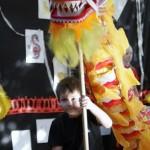 Chiński Rok Owcy - ZSOI nr 1 - pokaz grup 6-cio klasistów - parada smoka i lwów oraz pokaz kung fu